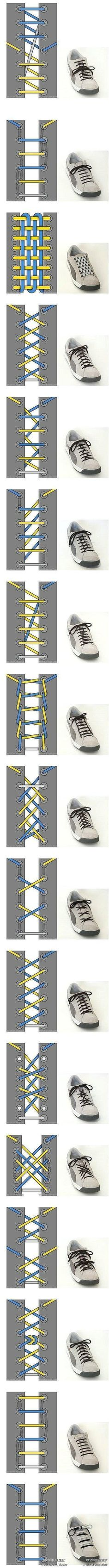 Diffrent ways to tie your shoes