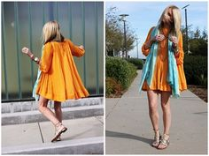 Atlantic-Pacific is a fashion and personal style site by Blair Eadie. Orange Prom Dresses, Orange Dress, Summer Dresses, Passion For Fashion, Love Fashion, Womens Fashion, Modern Fashion, Atlantic Pacific, Orange And Turquoise