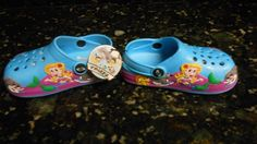 Turquoise Mermaid Clocs Size Toddler 9  NIP Cute! #Clogs