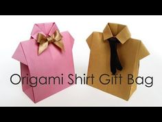 Find out about Origami Designs Origami Folding, Useful Origami, Paper Crafts Origami, Origami Gift Bag, Origami Shirt, Diy Father's Day Gifts, Father's Day Diy, Graduation Crafts, Origami Videos