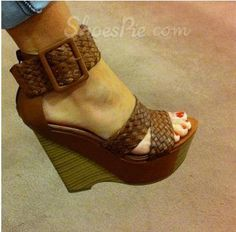 Comfortable Wedge Heel Ankle Strap Buckle High Heel Sandals. I need these!