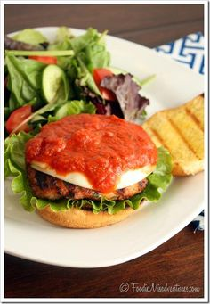 Hamburger Recipes : Chicken Parmesan Burgers