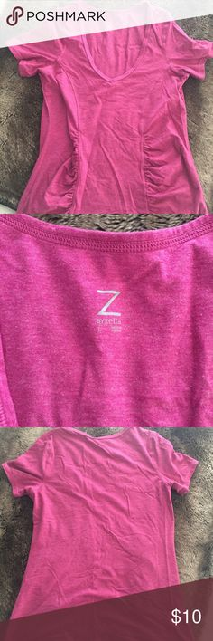 Zella Tee Pink Zella Tee in bright pink. Size L. Great condition. Zella Tops Tees - Short Sleeve