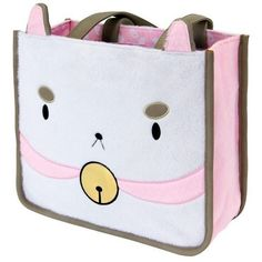 "Bee and Puppycat I Am Puppycat 12.5"" Plush Tote Bag ($63) ❤ liked on Polyvore featuring bags, handbags, tote bags, tote hand bags, handbags totes, tote purses, handbags tote bags and tote bag purse"