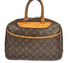 Louis Vuitton Deauville Brown Monogram Satchel.