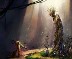 Groot and rocket very beautiful art