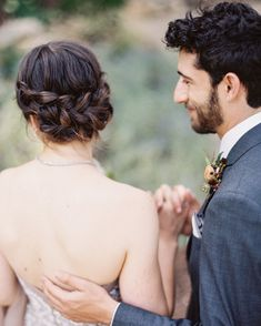 A Rustic and Elegant Wedding Weekend at Blackberry Farm Elegant Wedding Hair, Elegant Bride, Wedding Hair Pieces, Wedding Beauty, Rustic Wedding, Bridal Hairdo, Bridal Hair Vine, Classic Updo, Glowing Face