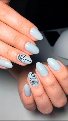 155 pretty floral nail art designs for spring you must try – page 1 Spring Nails, Summer Nails, Summer Holiday Nails, Cute Nails, Pretty Nails, Nail Selection, Nagellack Trends, Floral Nail Art, Stylish Nails