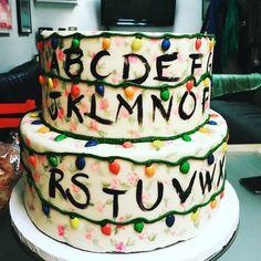 Stranger Things cake by Bake It So in Toronto #strangerthings #cake #stranger #things