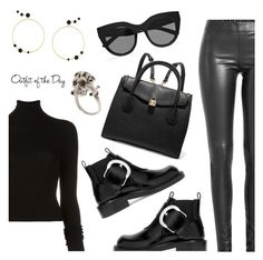 """""""Outfit of the Day"""" by dressedbyrose ❤ liked on Polyvore featuring BLK DNM, Joseph, Maison Margiela, MICHAEL Michael Kors, Eshvi, Alexander McQueen, Le Specs, Petit Bateau, ootd and polyvoreeditorial"""