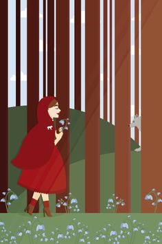 Little Red Riding Hood for Grimms Fairy Tales. Sophie Wilson, 2012.