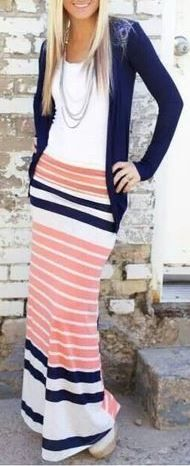 Fun maxi skirt from The Nest on Main. I like these colors!