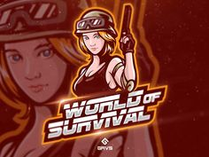 World of Survival Logo designed by Febryan Satria. Connect with them on Dribbble; the global community for designers and creative professionals. Mascot Design, Logo Design, Gaming Logo, Cool Anime Pictures, Youtube Logo, Esports Logo, E Sport, Digital Portrait, Creative Logo