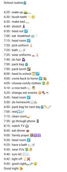 School Routine For Teens, Morning Routine School, Morning Routine Checklist, School Checklist, Healthy Morning Routine, Routine Planner, School Routines, Back To School Glo Up, Middle School Hacks