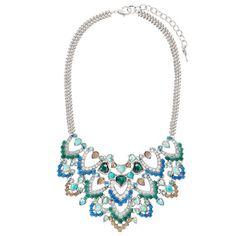 Peacock Plumes Statement Bib Necklace - Shop now in my boutique www.chloeandisabel.com/boutique/lizstorey #chloeandisabel #jewelry