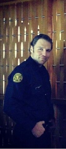"Dean Ambrose in his police uniform for ""Lockdown"""