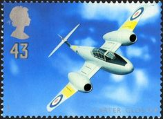 Architects of the Air Stamp George Carter and Gloster Meteor T