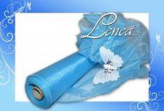 ORGANZA TVAROVACÍ-modrá s leskem