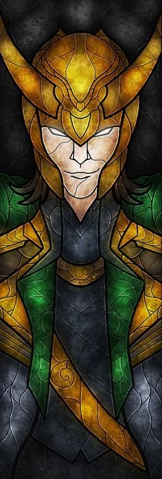 Loki Stained Glass by Mandie Manzano