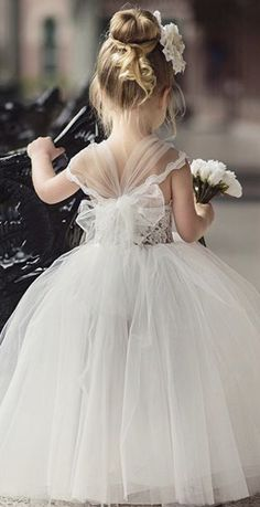 We absolutely adore this little angel in her mini princess gown! Little Girl Dresses, Flower Girl Dresses, Flower Girls, Winter Flower Girl, Flower Girl Tutu, Tutu Dresses, Princess Flower, Baby Dress, Baby Skirt