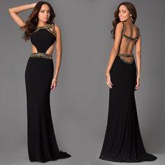 Long Open Back Dress by Sherri Hill 32140