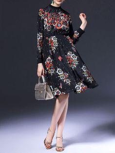 Pleated Silk Midi Dress