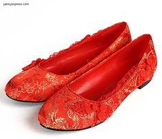 Chinese Dragon Phoenix Wedding Shoes