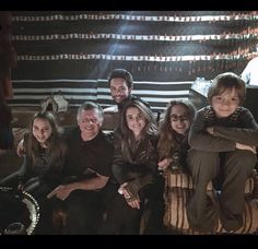anythingandeverythingroyals:  Queen Rania posted a photo and wishes for a Happy New Year 2015:  l-r Princess Salma, King Abdullah, Crown Prince Hussein, Queen Rania, Princess Iman, Prince Hashem