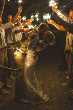 Love this. Such a fun photo to capture the moment.  sparkler exit photo by cptphotography.com
