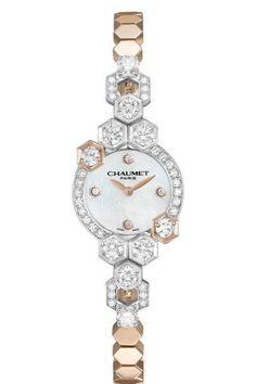 Reloj joya oro rosa, Chaumet.