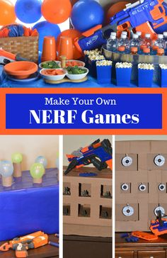 You'll be on target for hosting the ultimate Nerf birthday party with these fun ideas for making your own Nerf games.