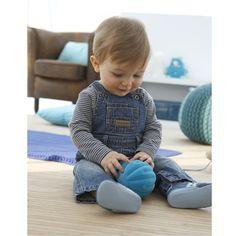 Baby Boy's Pure Cotton Denim Dungarees Stonewashed denim