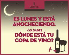 La mejor manera de acabar un lunes es degustando una copa de vino #wine #vino #cheers #relax  #keep #calm #bodega #iniesta