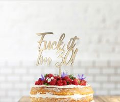 30th Birthday Cake Topper, Happy 30th Birthday, Birthday Name, Wooden Cake Toppers, Wood Cake, Wedding Cake Toppers, Wedding Cakes, Create Your Own, Create Yourself