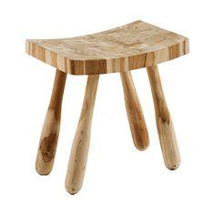 #Taburete en #madera de teca #reciclada.