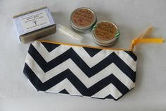 Travel Tote Bag Bath and Beauty Gift Set/Lip Balm Soap Body Butter Cuticle Salve Tote Bag/For Her Mother's Day Gift Ideas