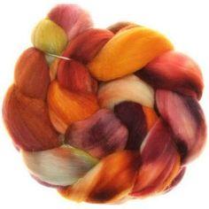Merino+Seide+Kaschmir+100g+handgefärbter+Kammzug+Zum+Spinnen+und+Filzen+gleichermassen+geeignet+Eine+Mischung+aus+der+(Spinn)Träume