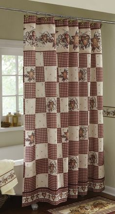 Country Shower Curtains Sets And Style Bathroom Accessories