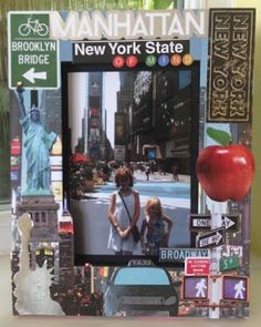 Dress up an old photo frame by sticking on some New York themed scrapbooking die cuts available from Sunshine Scrapbooking. Perfect to house a fabulous memory. New York Scrapbooking, Brooklyn Bridge New York, Old Photos, Scrapbook Paper, Sunshine, Memories, Frame, Blog, Dress