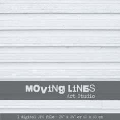 White Wooden Fence Digital Printable Backdrop by MovingLines