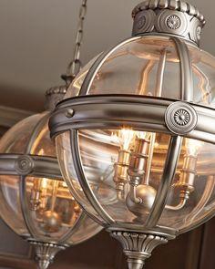 Adams 3 Light Pendant Chandelier Antique Nickel By Feiss