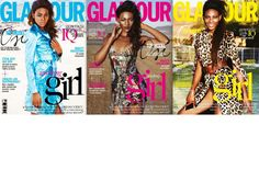 Osi Ugonoh na 3 okładkach Glamour! 01/2015