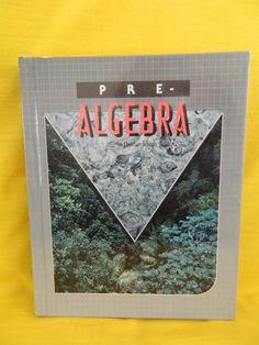 Bob Jones Pre Algebra Student, Hardback & LN  School or Homeschool  8th #Textbook