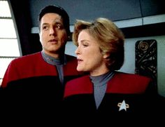 Chakotay and Captain Janeway