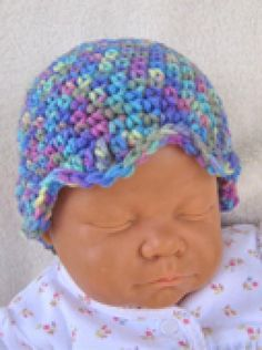 Crochet Cool Hats for Kids Using These Free Patterns: Tulip Cloche Baby Hat