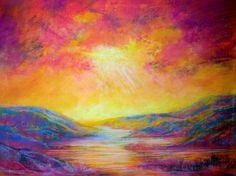 "Saatchi Online Artist: Midge Ace; Pastel, 2011, Drawing ""Ray of Light"""