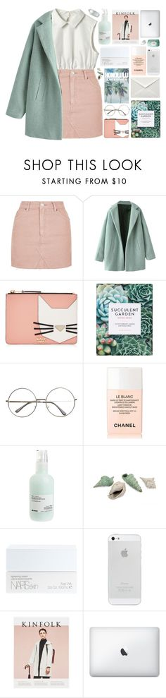 """""""look inside your heart"""" by akp123 ❤ liked on Polyvore featuring Topshop, Karl Lagerfeld, Chanel, Davines, NARS Cosmetics and Fresh"""