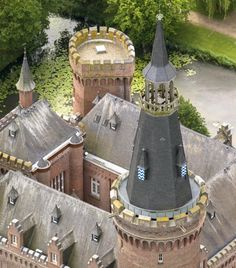 North Tower spire of Moyland Castle in Germany