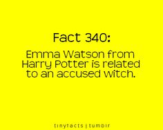 Emma Watson Fact #harry #potter