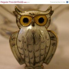 ON SALE Vtg David Andersen Sterling Silver Owl Brooch by QsVintage